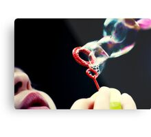 not so red bubble Metal Print