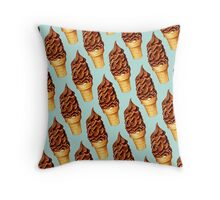 Chocolate Dip Cone Pattern Throw Pillow