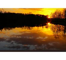 February sunset Photographic Print