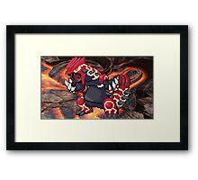 Groudon: Legendary Pokemon Framed Print