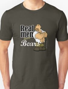 Real Men Love Bears - Military T-Shirt