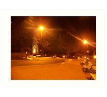 Moser Tower at night Art Print