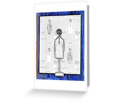Chair and Figure Abstract Greeting Card