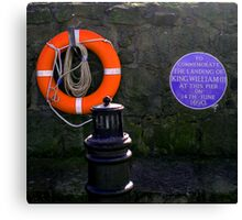 ...and this is why all lifebelts are orange! Canvas Print