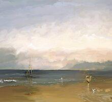 Beach scene after Turner by MayWebb