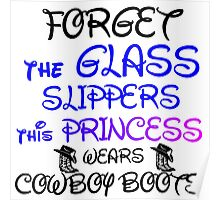 THIS PRINCESS WEARS COWBOY BOOTS Poster
