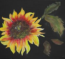 Janie's Sunflower by Mikki Alhart