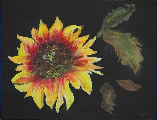 Janie's Sunflower by Mikki Alhart