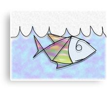 Wire Fish Canvas Print