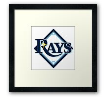 tampa bay rays Framed Print