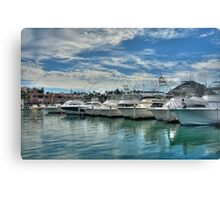 Row of Boats Canvas Print