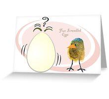 Two Scrambled Eggs Greeting Card