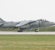 US Marine Harrier by Karl R. Martin