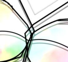 Wire Butterfly Sticker