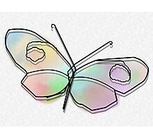 Wire Butterfly Photographic Print