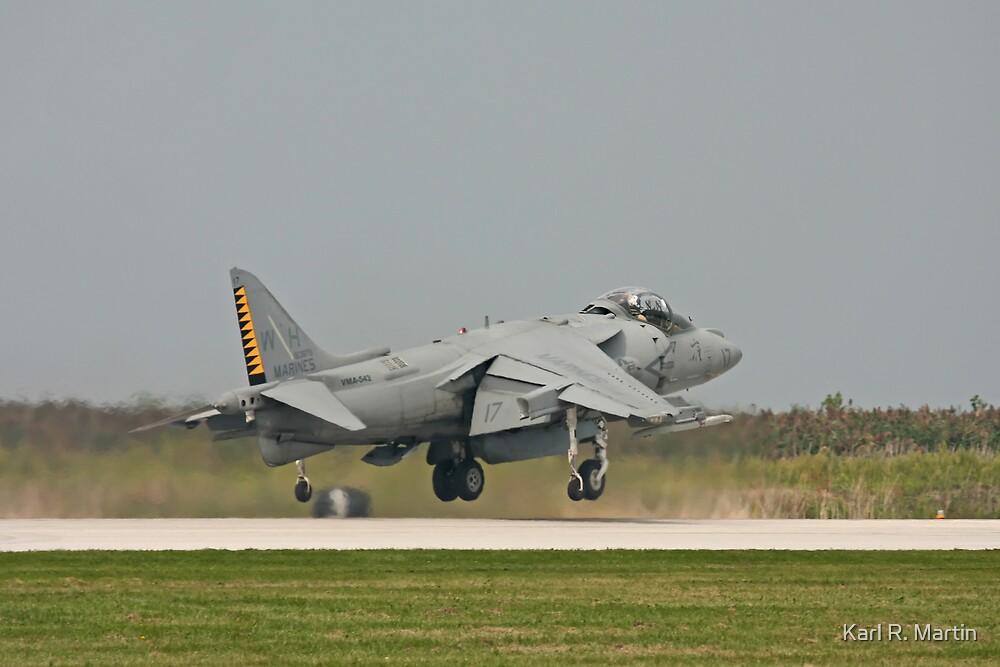 US Marine Harrier by Karl R. Martin