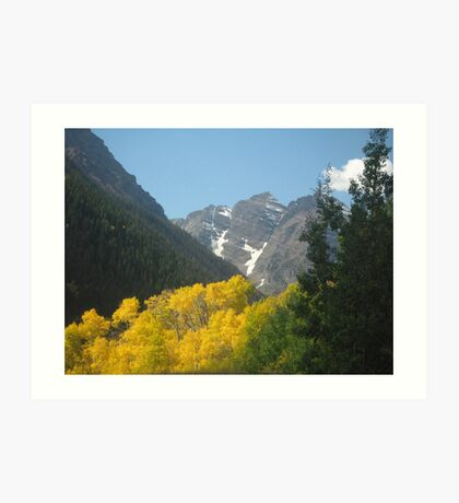 Majestic Peaks Art Print