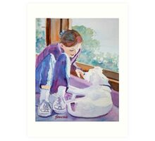 Good Morning Puppy Art Print