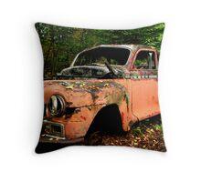Rusted car at Jackfish Ontario Throw Pillow