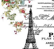 Paris Eiffel Tower by Nika Rouss