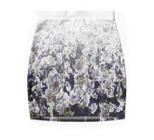 white flowers Mini Skirt