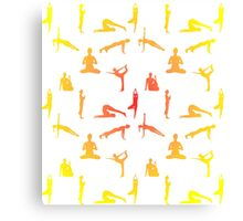 Yoga Positions In Gradient Colors Canvas Print
