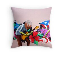 Puerto Rico's Street Art Throw Pillow