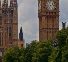 England - Big Ben from Thames Sticker