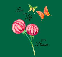 Butterfly, Flowers -Inspirational Live The Life You Dream Tank Top