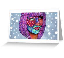 Funky Self Portrait Greeting Card