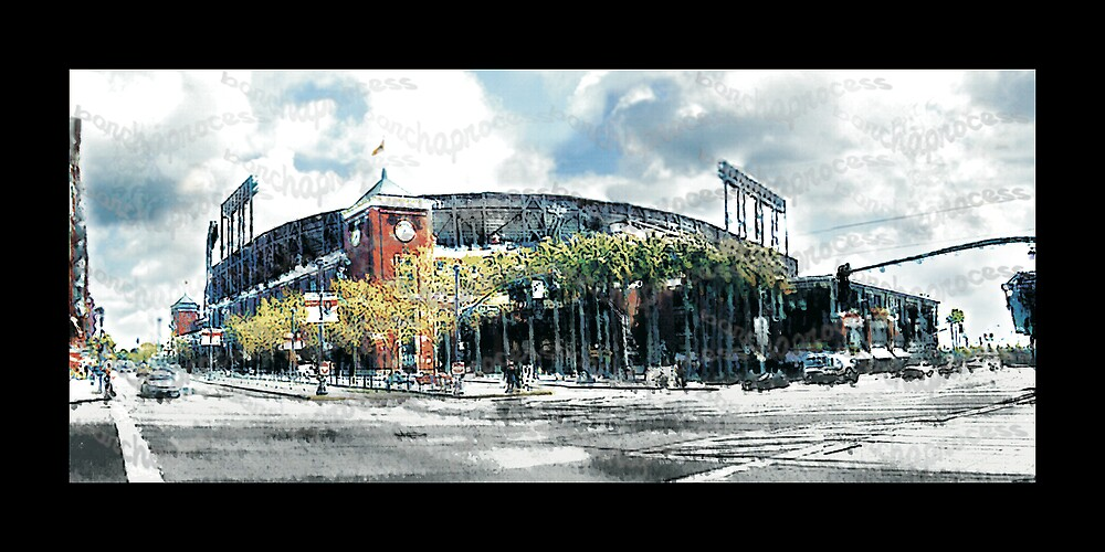 """*SF Giants Home* SBC Park  *""""barchaprocess""""* by barcha"""