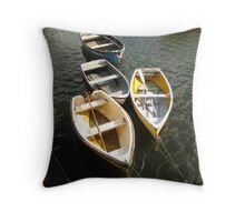 row your boats Throw Pillow