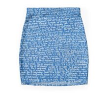"""""""Love is a risk. Do it anyway"""" - Wynwood Mural by Renda Writer (Blue) Pencil Skirt"""