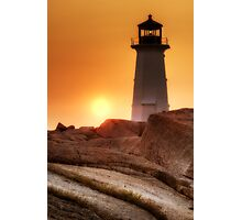 Lighthouse sunset Photographic Print