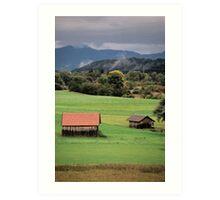Two Barns - Hechendorf, Germany Art Print