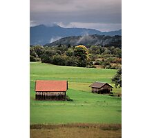 Two Barns - Hechendorf, Germany Photographic Print