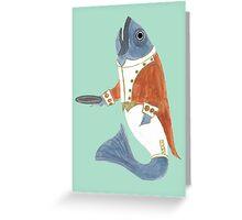 Fish Butler Greeting Card