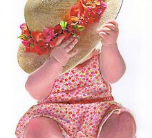 Little Flower Girl by Karen  Hull