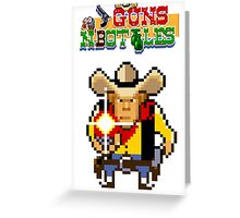 Guns n' bottles Greeting Card