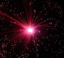 fibre optics red star by ricroja