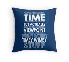 Doctor Who Timey Wimey Throw Pillow
