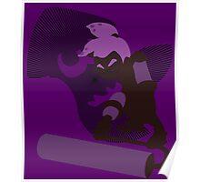 Violet Male Inkling - Sunset Shores Poster