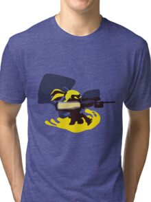 Yellow Male Inkling - Sunset Shores Tri-blend T-Shirt