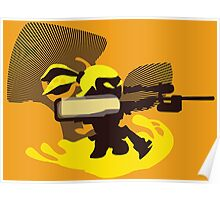 Yellow Male Inkling - Sunset Shores Poster