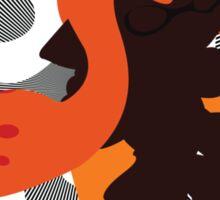Orange Female Inkling - Sunset Shores Sticker