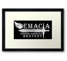 Choose your side - Demacia [White V.] Framed Print