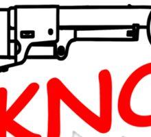 PUNS KNOT GUNS Sticker