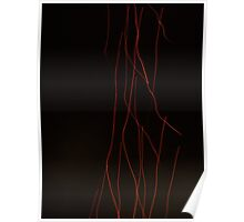 Light waves created by a fire-cracker on a dark night Poster