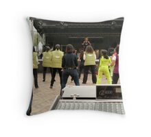 Let's move!  Throw Pillow