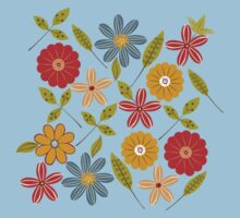 Painted flowers and leaves Kids Clothes